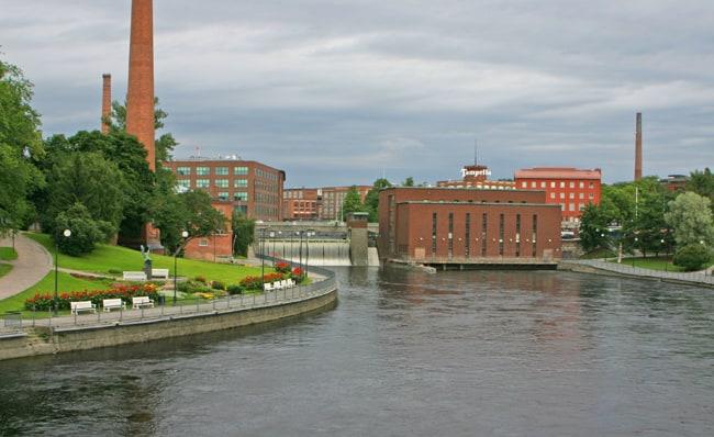 4.4Tampere, il salto d'acqua del canale tammerkoski