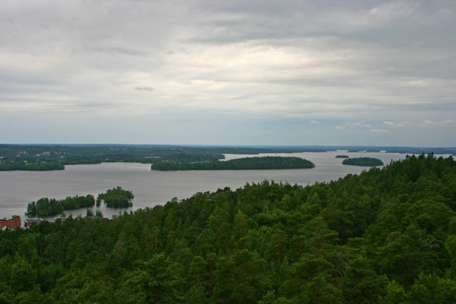4.5 Tampere, vista dalla torre nel parco Pinikki