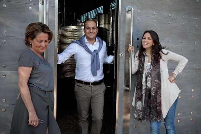 Da sinistra Patrizia Felluga e i figli, Antonio e Caterina Zanon