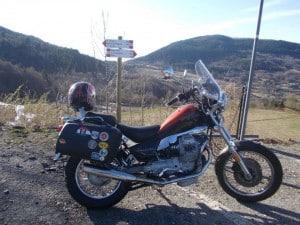Vicky, la Moto Guzzi Nevada di Peio