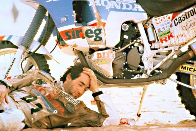 Edi Orioli vincitore di quattro edizioni della Parigi-Dakar