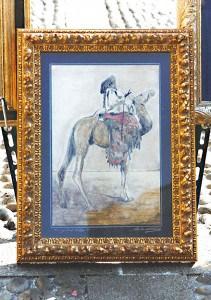 Grande appassionato del deserto, Angelo Caprotti, realizza quadri con sabbia la sabbia raccolta nei suoi viaggi