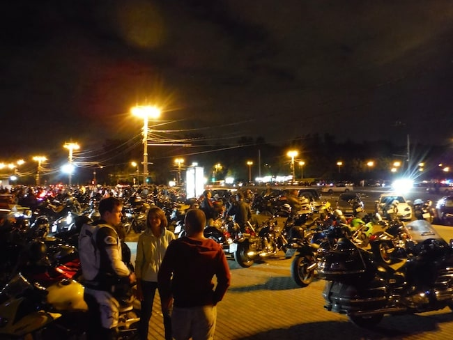 bikers a Mosca