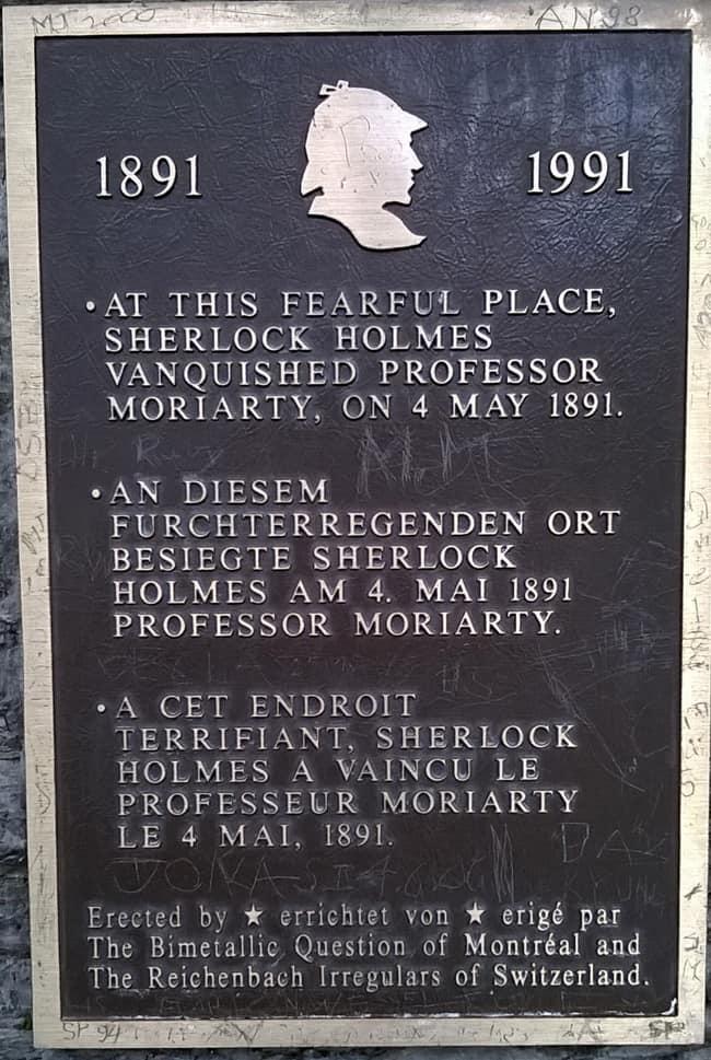 Sherlock Holmes, targa commemorativa