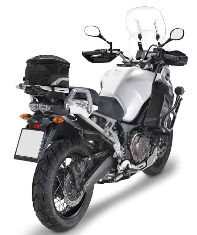 borsello Posteriore Moto Ketamyy Borsa da Sella Moto Borse da Codino Pelle PU Accessori Borsello Moto Borsa da Serbatoio Piccola Portatile Multifunzione Nero