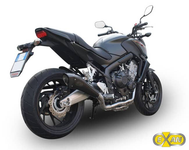 Scarichi Exan nuovi per la Honda CB650F X-BLACK EVO NERO
