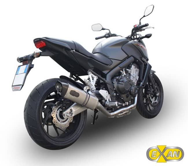 Scarichi Exan nuovi per la Honda CB650F  X-BLACK OVALE TITANIO