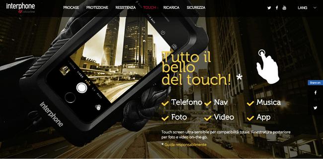 Custodie per smartphone: il sito dedicato di Interphone