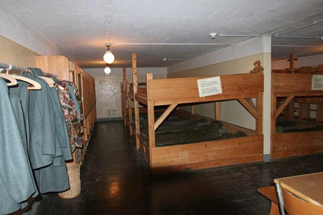 Le camerate dove alloggiavano i soldati.