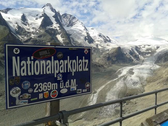 20 Nationalparkplatz e veduta ghiacciao Pasterze