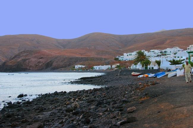Playa Quemada al tramonto