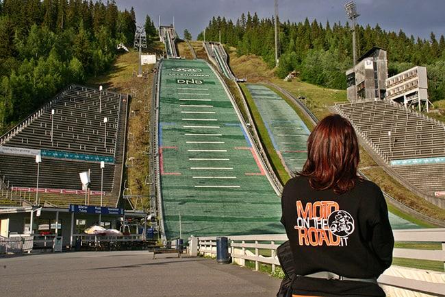 Il trampolino doppio di Lillehammer.