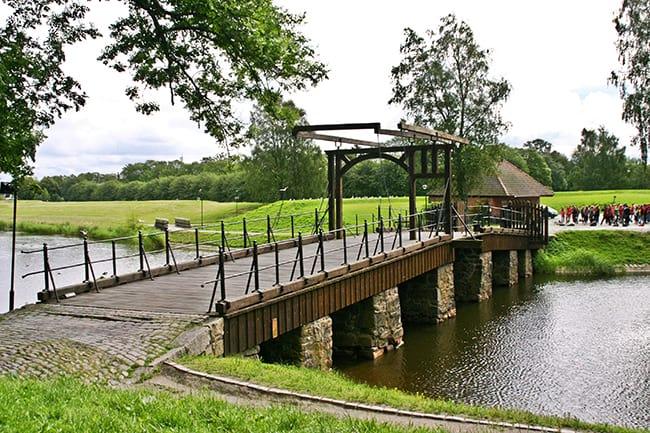 Ponte levatoio al Gamlebyen di Fredrikstad.