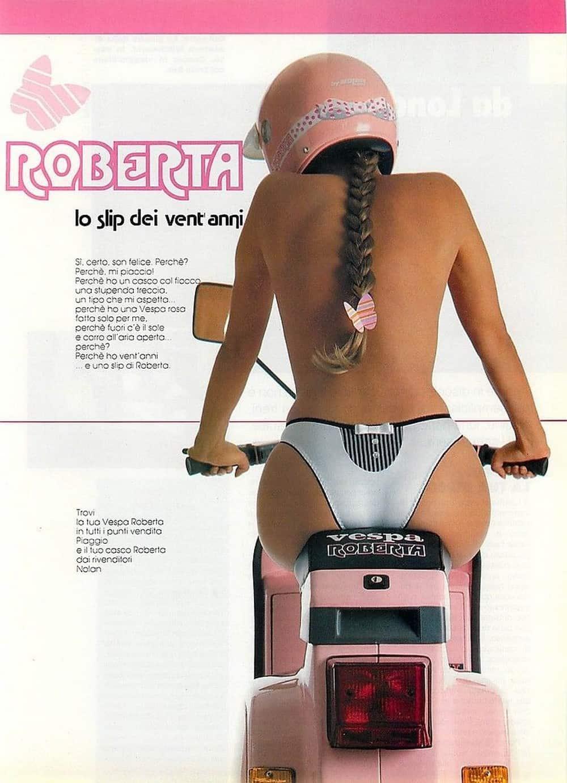 Pubblicità anni 90 Slip Roberta