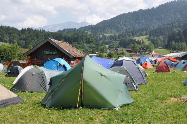 BMW Motorrad Days - l'area camping