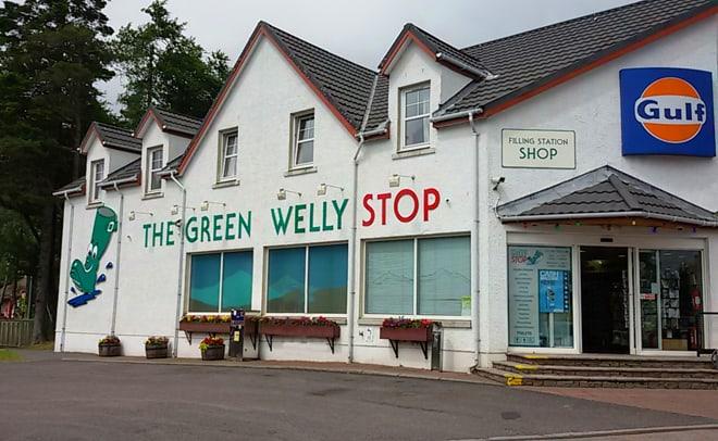 Scozia in moto, The green Welly stop, café ritrovo dei bikers