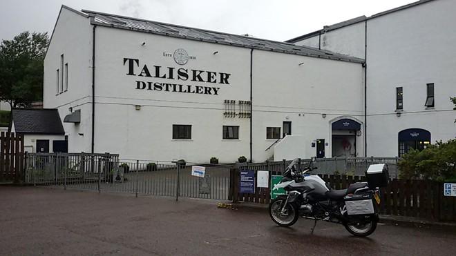 Scozia in moto, distilleria