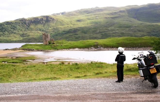 Scozia in moto, castello di Ardvrek