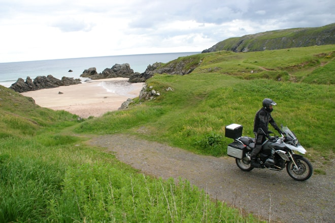 Scozia in moto, bike in Durness
