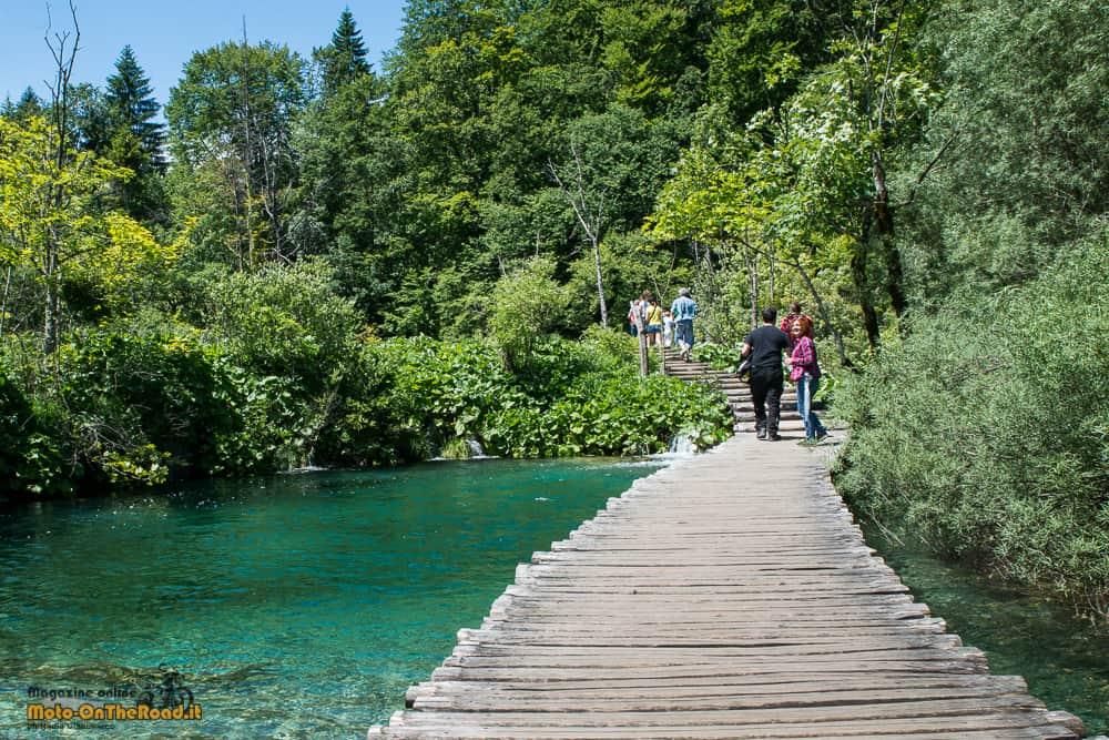 Croazia continentale in moto i laghi di plitvice for Disegni di laghi