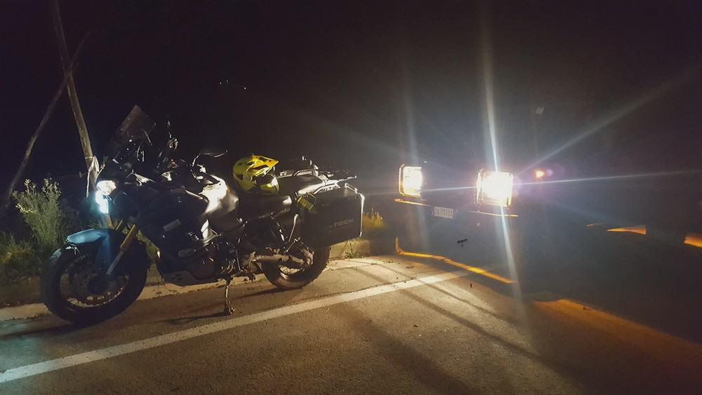 Come ficcarsi nei guai in moto: la moto appena recuperata.