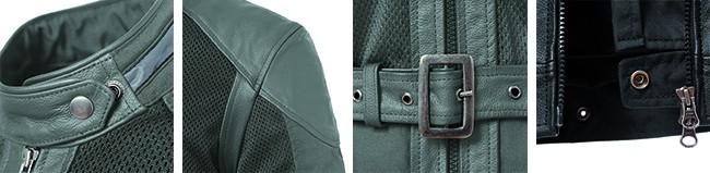Alcuni dettagli della giacca Selvaggia.