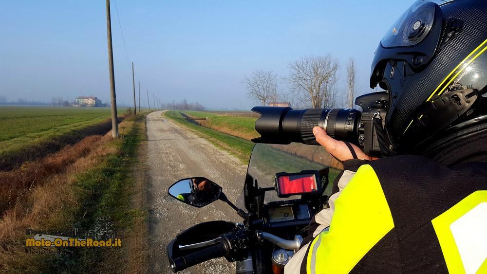 Con il casco modulare aperto si riescono anche a scattare delle foto.
