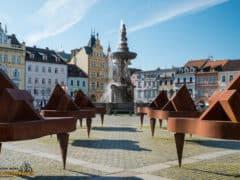 České Budějovice piazza di Přemysl Otakar II - boemia meridionale-0918