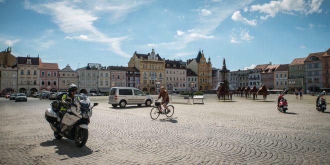 České Budějovice piazza di Přemysl Otakar II - boemia meridionale-0984