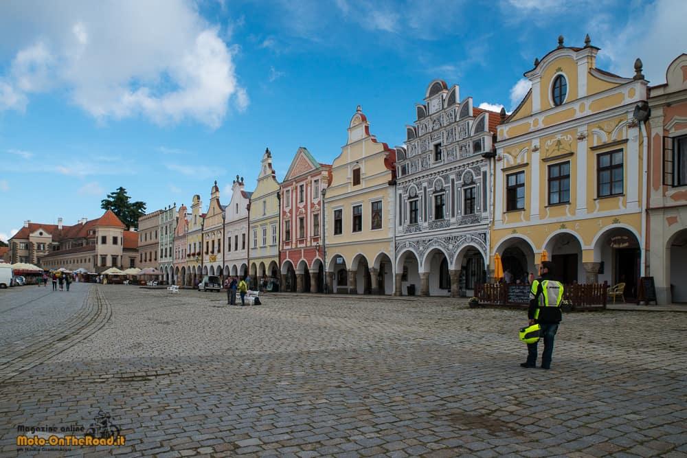 Piazza centrale di Telč - regione di Vysočina