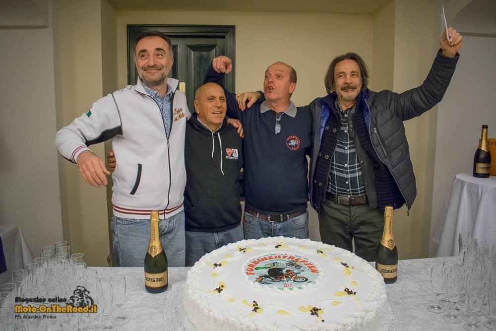Furbinentreffen 2017, i festeggiamenti per il quartetto organizzatori.