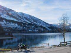 In viaggio Lago di Scanno Ducati Multistrada 950