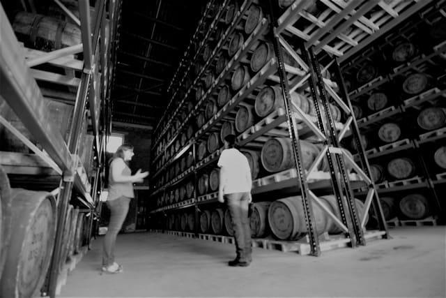 Vallonia in moto: deposito delle botti per l'invecchiamento del whisky