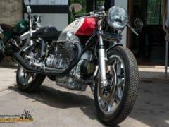 La stupenda special realizzata su base Motoguzzi Le MansLa stupenda special realizzata su base Motoguzzi Le Mans