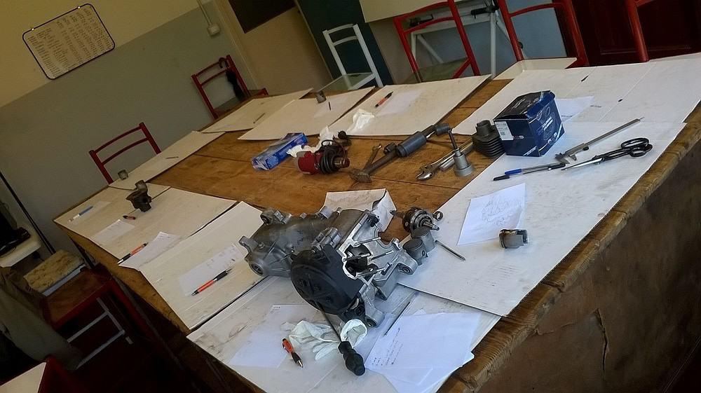 La sala polifunzionale dove vengono eseguiti i corsi di meccanica