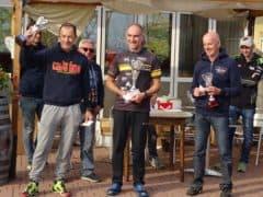 il podio della over 50, Cecconi, Brangero e Bosi