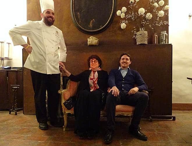 I tiolari dell'hotel Cappuccini con lo chef