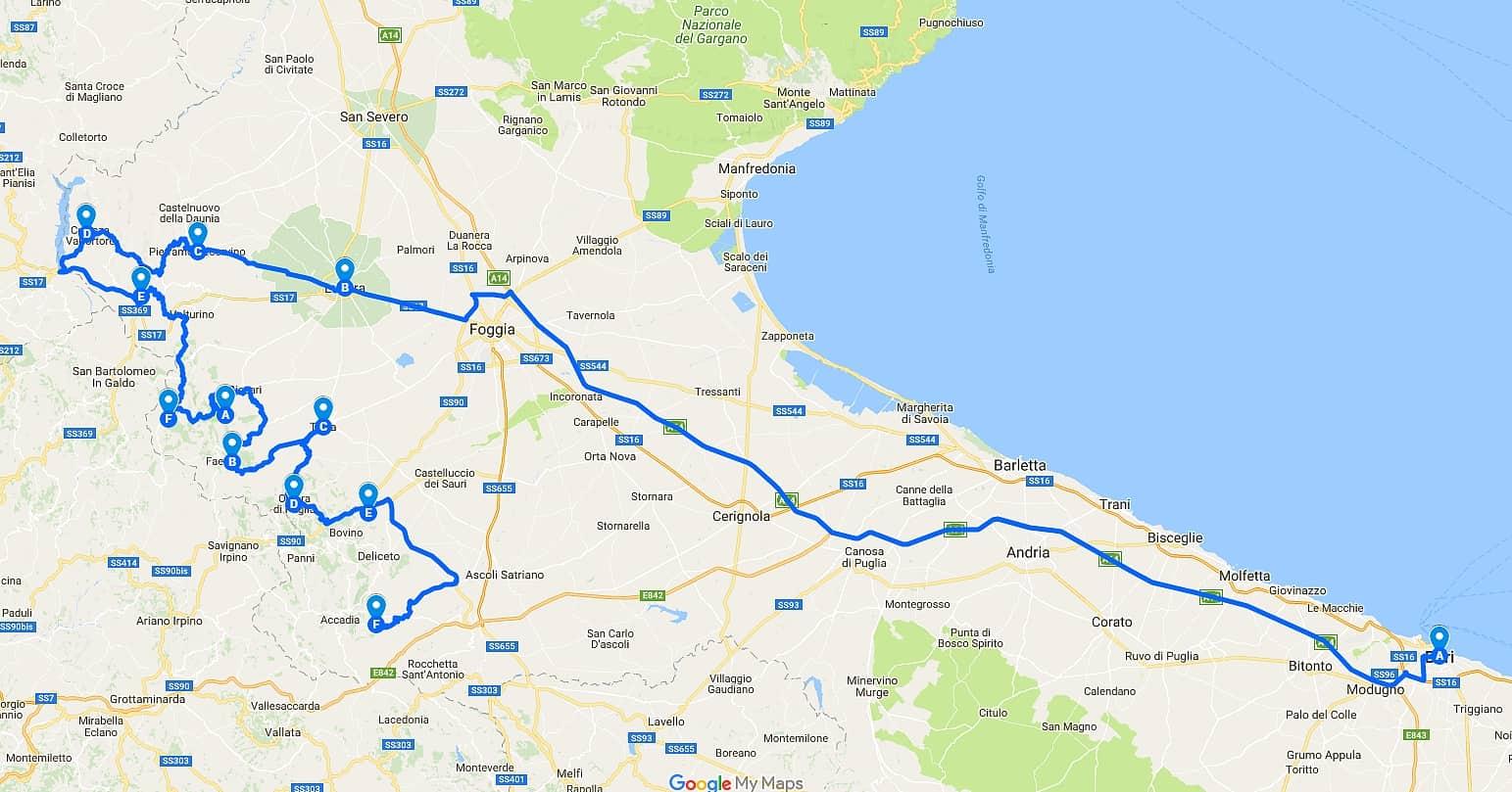 Cliccate sulla mappa per accedere alla mappa con il percorso.
