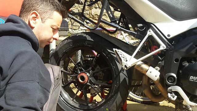 Anlas Capra RD 190 post montaggio del pneumatico
