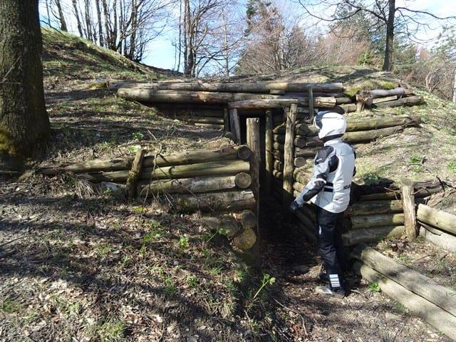 sul Passo del Giogo, in piena linea Gotica, la ricostruzione di alcuni bunker tedeschi ad opera dei volontari del museo
