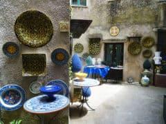 Erice: un negozio di ceramiche