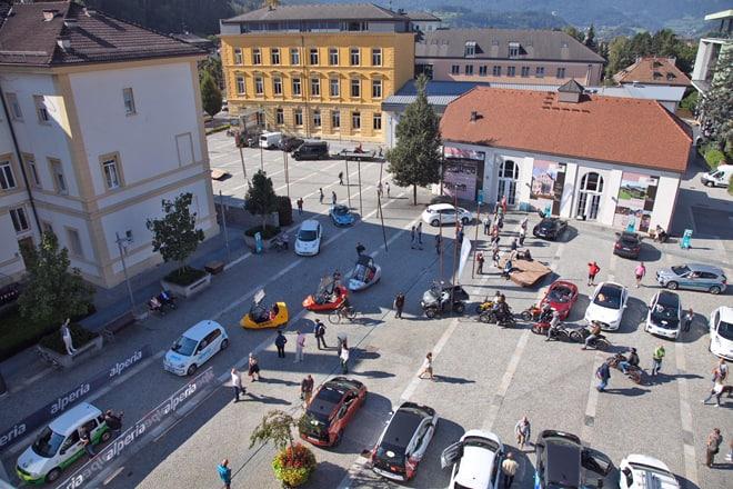 ECO Dolomites partenza dei veicoli elettrici da Brunico