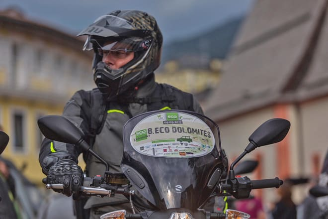 Moto elettrica all'ECO Dolomites 2017