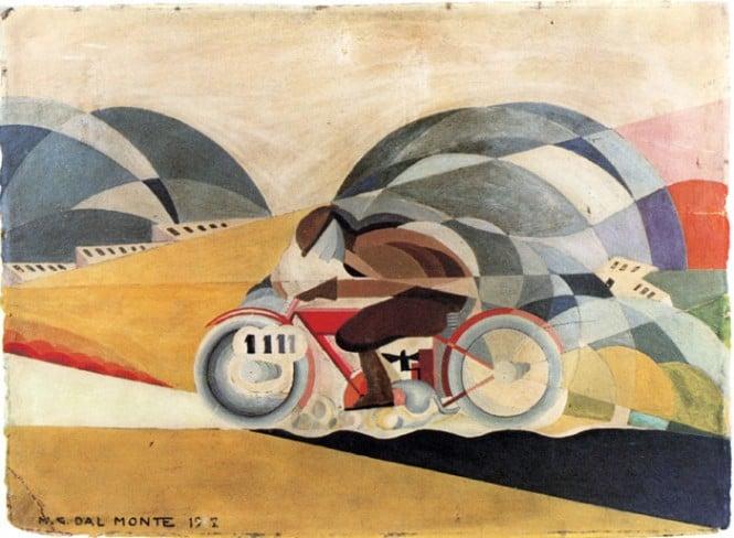 Mario Guido Dal Monte: Motociclista. 1927