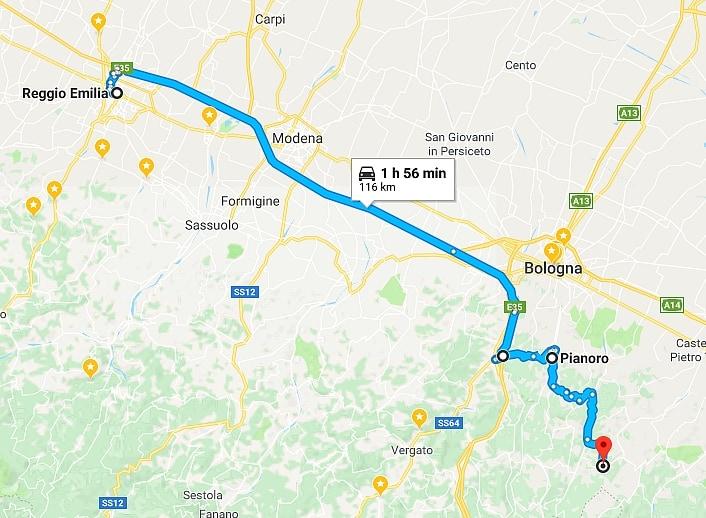 Cliccare sulla mappa per visualizzare il percorso