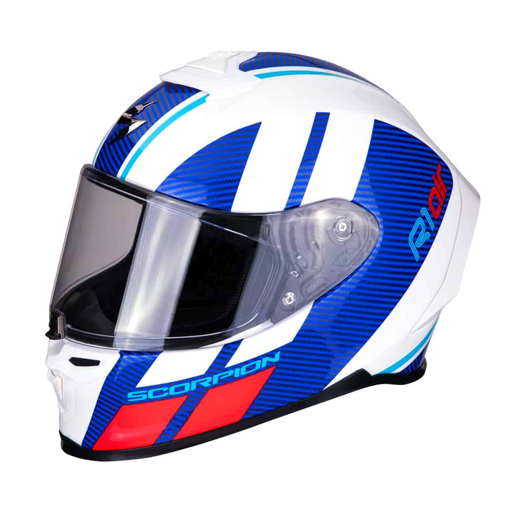 Scorpion Sport EXO-R1 AIR CORPUS White-Blue-Red