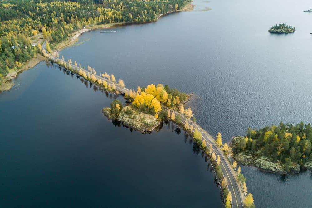 Il Lago Saimaa d'autunno