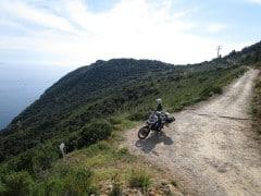 All'inizio della sterrata verso Porto Ercole, panorama
