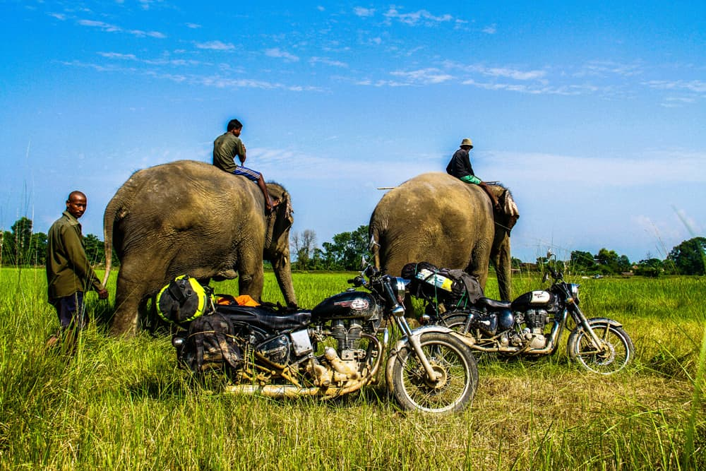 parco nazionale Chitina - in moto in Nepal