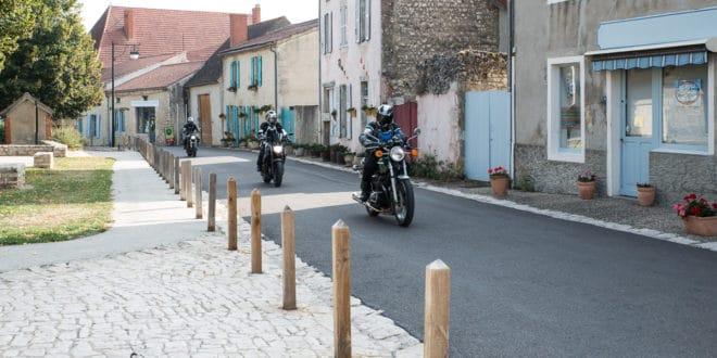 Charroux in moto
